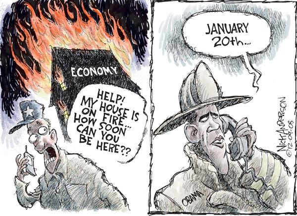 Cartoonist Nick Anderson  Nick Anderson's Editorial Cartoons 2008-12-09 recession