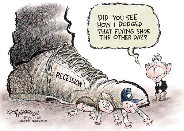 Cartoonist Nick Anderson  Nick Anderson's Editorial Cartoons 2008-12-19 recession