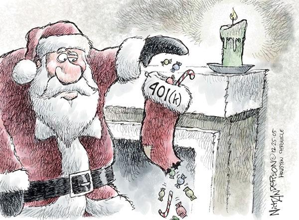 Nick Anderson  Nick Anderson's Editorial Cartoons 2008-12-25 stock market