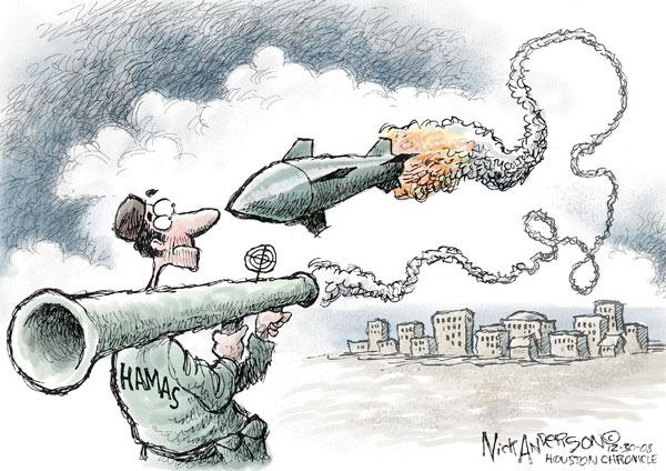 Cartoonist Nick Anderson  Nick Anderson's Editorial Cartoons 2008-12-30 Palestine