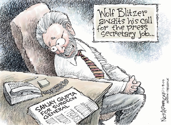 Cartoonist Nick Anderson  Nick Anderson's Editorial Cartoons 2009-01-09 cable news