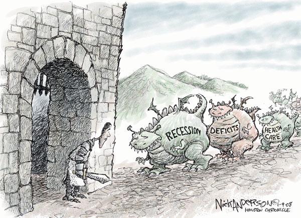 Nick Anderson  Nick Anderson's Editorial Cartoons 2009-01-09 federal budget