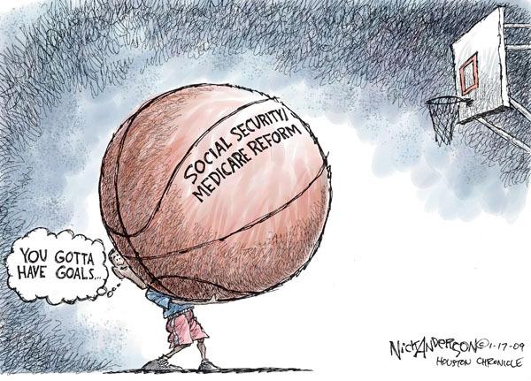 Cartoonist Nick Anderson  Nick Anderson's Editorial Cartoons 2009-01-18 social security