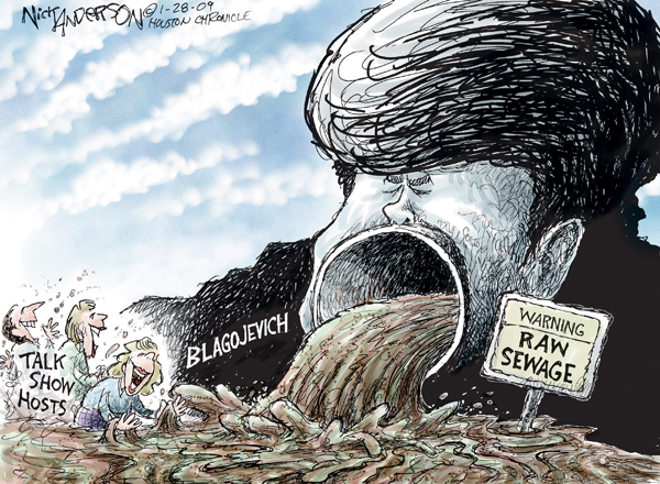 Cartoonist Nick Anderson  Nick Anderson's Editorial Cartoons 2009-01-28 appearance