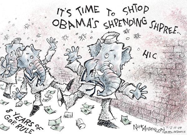 Cartoonist Nick Anderson  Nick Anderson's Editorial Cartoons 2009-02-10 recession