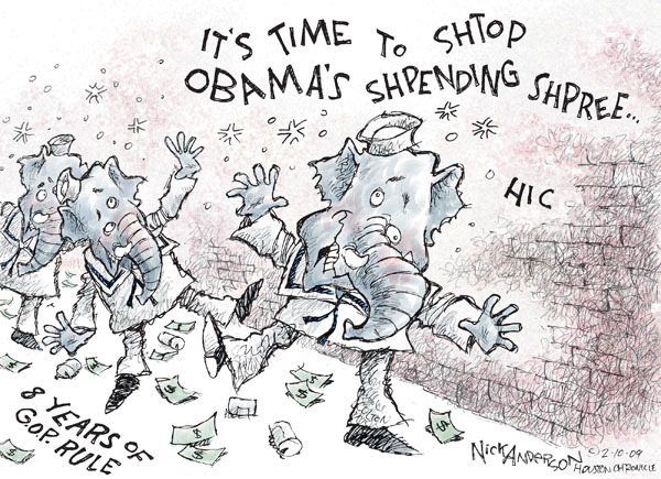 Nick Anderson  Nick Anderson's Editorial Cartoons 2009-02-10 bipartisanship