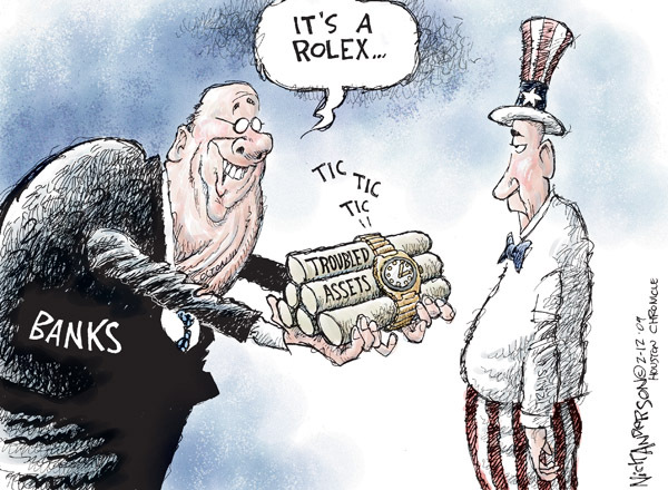 Cartoonist Nick Anderson  Nick Anderson's Editorial Cartoons 2009-02-12 outs