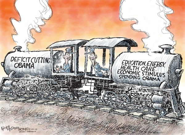 Nick Anderson  Nick Anderson's Editorial Cartoons 2009-02-26 opposite direction