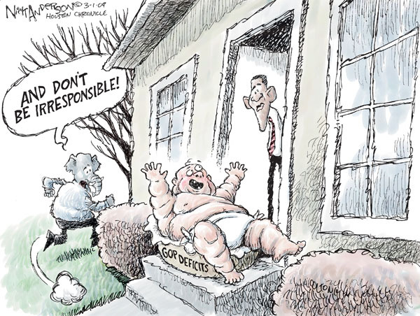 Nick Anderson  Nick Anderson's Editorial Cartoons 2009-03-01 conservative