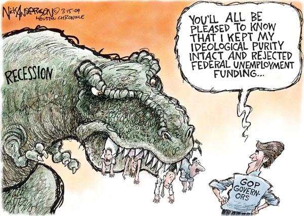 Cartoonist Nick Anderson  Nick Anderson's Editorial Cartoons 2009-03-15 recession