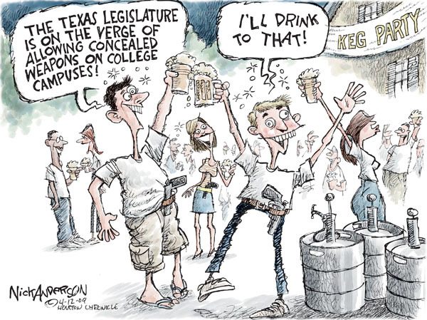 Cartoonist Nick Anderson  Nick Anderson's Editorial Cartoons 2009-04-12 college campus
