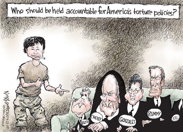 Nick Anderson  Nick Anderson's Editorial Cartoons 2009-04-23 detainee
