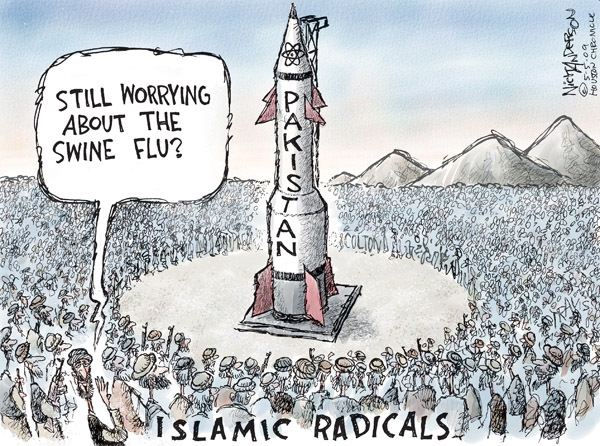 Cartoonist Nick Anderson  Nick Anderson's Editorial Cartoons 2009-05-05 nuclear weapon