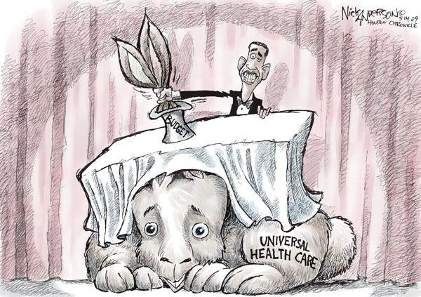 Nick Anderson  Nick Anderson's Editorial Cartoons 2009-05-14 federal budget