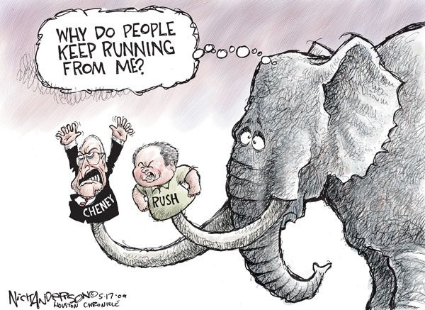 Cartoonist Nick Anderson  Nick Anderson's Editorial Cartoons 2009-05-17 Dick Cheney