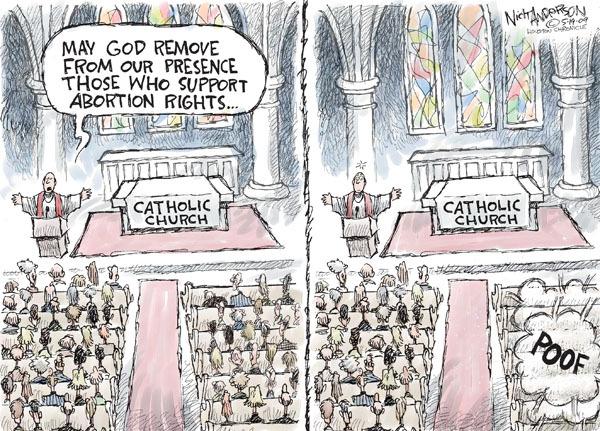 Cartoonist Nick Anderson  Nick Anderson's Editorial Cartoons 2009-05-19 abortion