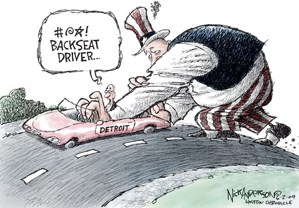 Cartoonist Nick Anderson  Nick Anderson's Editorial Cartoons 2009-06-02 automobile