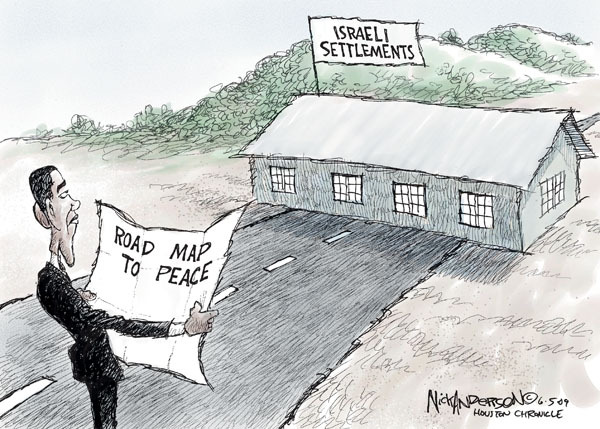 Cartoonist Nick Anderson  Nick Anderson's Editorial Cartoons 2009-06-05 Israel