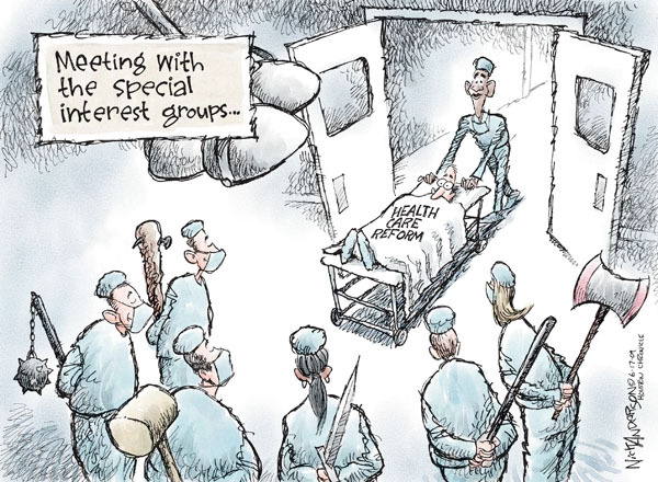 Nick Anderson  Nick Anderson's Editorial Cartoons 2009-06-17 special interest