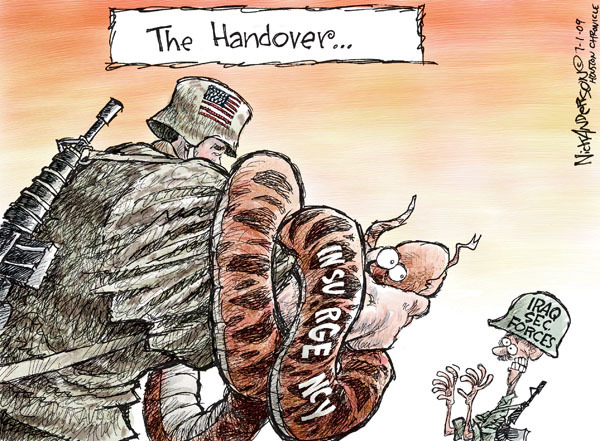 The handover … Insurgency. Iraq Sec. Forces.