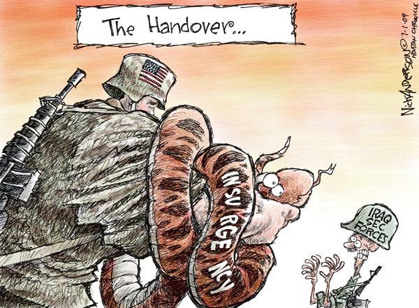 Cartoonist Nick Anderson  Nick Anderson's Editorial Cartoons 2009-07-01 Iraq insurgency