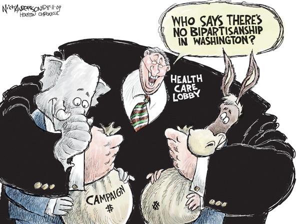 Nick Anderson  Nick Anderson's Editorial Cartoons 2009-08-11 lobbyist