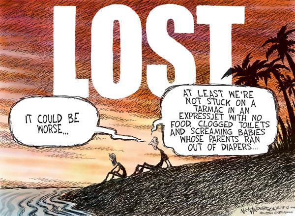 Nick Anderson  Nick Anderson's Editorial Cartoons 2009-08-12 flight
