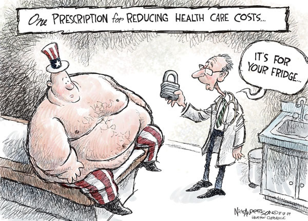 One prescription for reducing health care costs.  Its for your fridge.