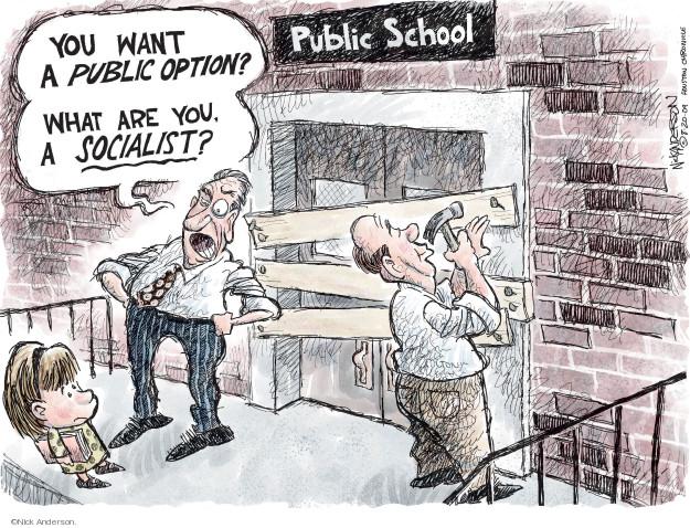 Cartoonist Nick Anderson  Nick Anderson's Editorial Cartoons 2009-08-20 health care cost