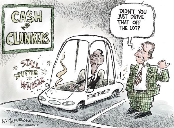 Cartoonist Nick Anderson  Nick Anderson's Editorial Cartoons 2009-08-25 automotive