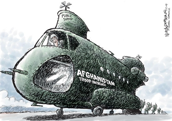 Cartoonist Nick Anderson  Nick Anderson's Editorial Cartoons 2009-09-02 armed