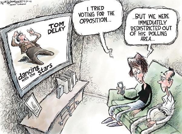 Cartoonist Nick Anderson  Nick Anderson's Editorial Cartoons 2009-09-24 house majority leader