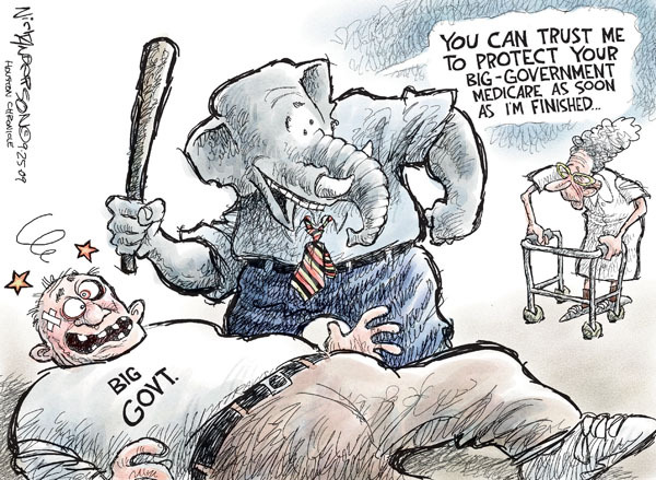 Cartoonist Nick Anderson  Nick Anderson's Editorial Cartoons 2009-09-25 opposition