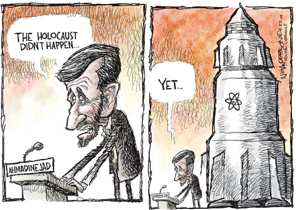 Cartoonist Nick Anderson  Nick Anderson's Editorial Cartoons 2009-09-27 nuclear weapon