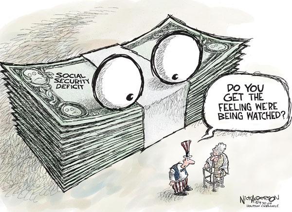 Cartoonist Nick Anderson  Nick Anderson's Editorial Cartoons 2009-09-30 social security