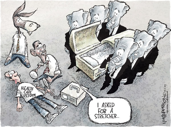 Nick Anderson  Nick Anderson's Editorial Cartoons 2009-10-01 health care reform opposition