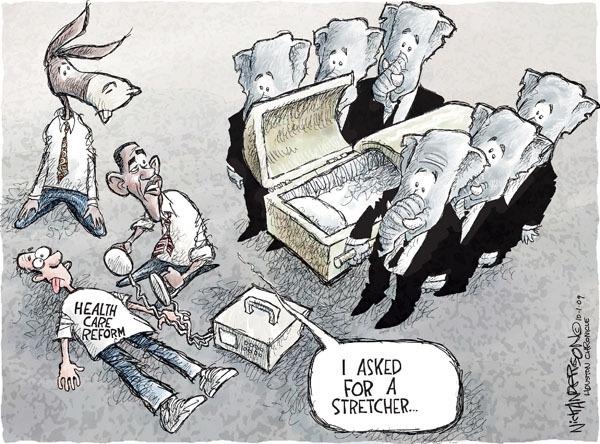 Cartoonist Nick Anderson  Nick Anderson's Editorial Cartoons 2009-10-01 opponent