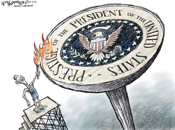 Cartoonist Nick Anderson  Nick Anderson's Editorial Cartoons 2009-10-04 torch