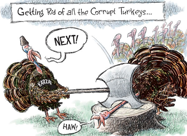 Nick Anderson  Nick Anderson's Editorial Cartoons 2009-11-04 political corruption