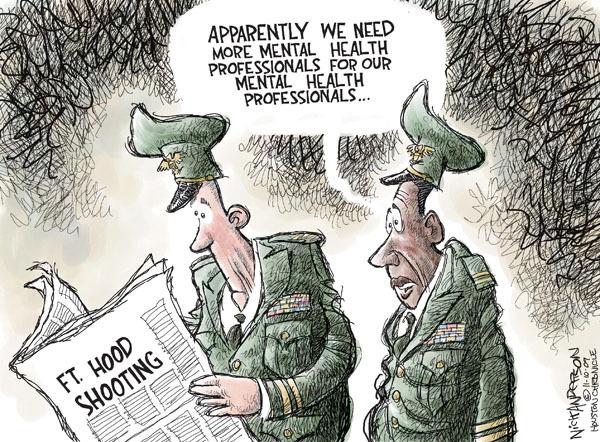 Cartoonist Nick Anderson  Nick Anderson's Editorial Cartoons 2009-11-10 mental