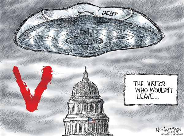 Cartoonist Nick Anderson  Nick Anderson's Editorial Cartoons 2009-11-24 government debt