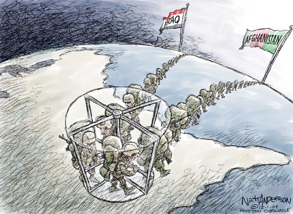 Nick Anderson  Nick Anderson's Editorial Cartoons 2009-11-30 military strategy