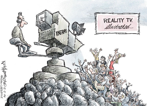 Nick Anderson  Nick Anderson's Editorial Cartoons 2009-12-01 reality television