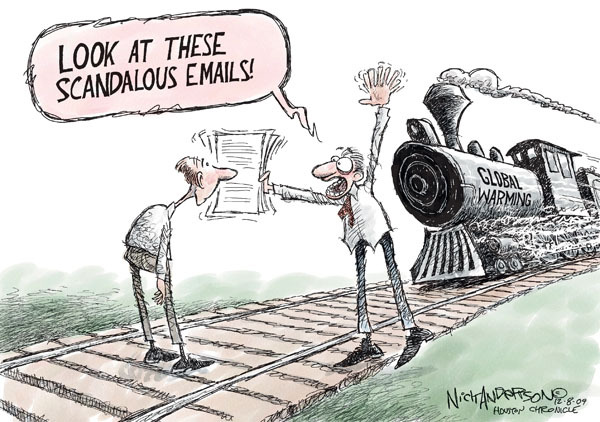 Nick Anderson  Nick Anderson's Editorial Cartoons 2009-12-08 climate change hoax