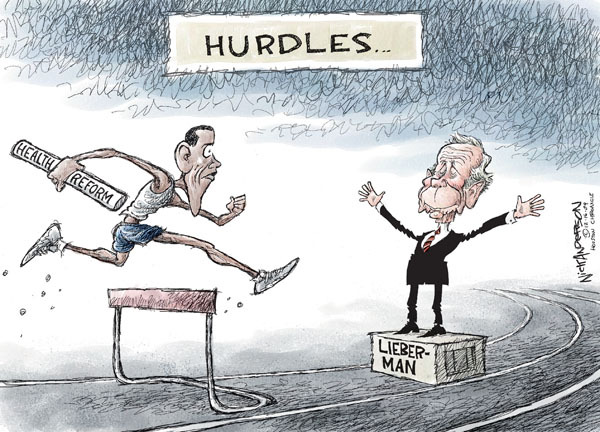 Nick Anderson  Nick Anderson's Editorial Cartoons 2009-12-16 health care reform opposition