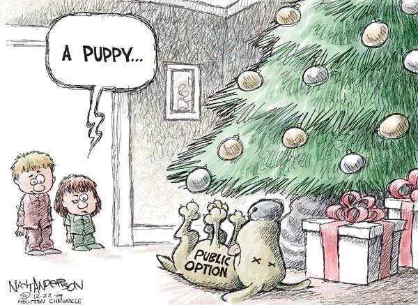 Cartoonist Nick Anderson  Nick Anderson's Editorial Cartoons 2009-12-22 Christmas gift