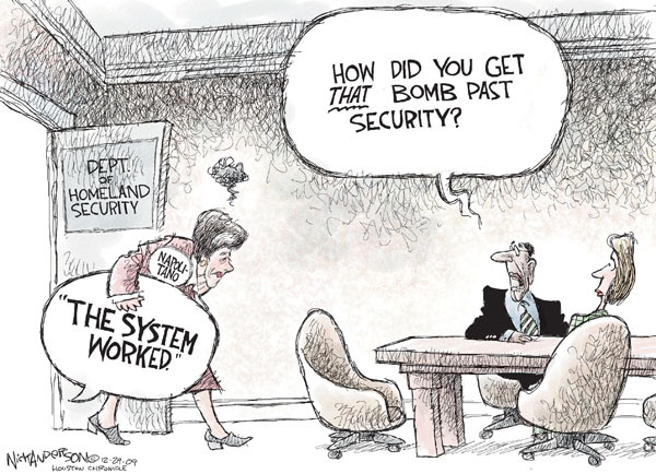 Nick Anderson  Nick Anderson's Editorial Cartoons 2009-12-29 airport security