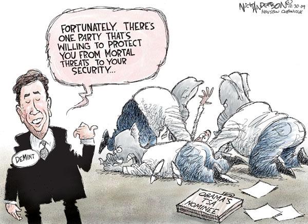 Cartoonist Nick Anderson  Nick Anderson's Editorial Cartoons 2009-12-30 republican politician