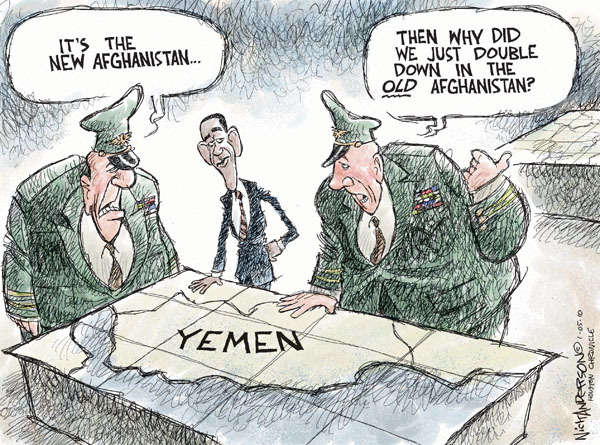 Nick Anderson  Nick Anderson's Editorial Cartoons 2010-01-05 military strategy