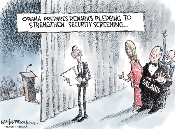 Nick Anderson  Nick Anderson's Editorial Cartoons 2010-01-10 air travel safety